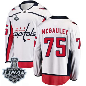 Youth Washington Capitals Tim McGauley Fanatics Branded Breakaway Away 2018 Stanley Cup Final Patch Jersey - White
