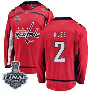 Youth Washington Capitals Ken Klee Fanatics Branded Breakaway Home 2018 Stanley Cup Final Patch Jersey - Red