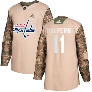 Youth Washington Capitals Jeff Halpern Adidas Authentic Veterans Day Practice Jersey - Camo