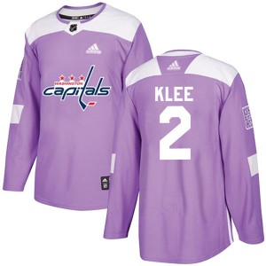 Youth Washington Capitals Ken Klee Adidas Authentic Fights Cancer Practice Jersey - Purple