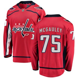 Men's Washington Capitals Tim McGauley Fanatics Branded Breakaway Home Jersey - Red