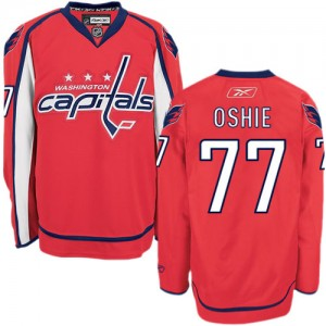 Youth Washington Capitals T.J. Oshie Reebok Authentic Home Jersey - Red